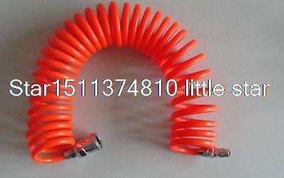12mm(OD) x 8mm(ID) PU Recoil Air Tubing Pipe Hose 9m With Quick Connector 12 5mm dia quick fittings blue 8x5mm air compressor pu tubing hose 3 3ft