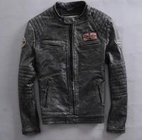 Factory New Do Old Leather Motorcycle Jacket Style Men S Real Cow Leather Motorcycle Jacket Short