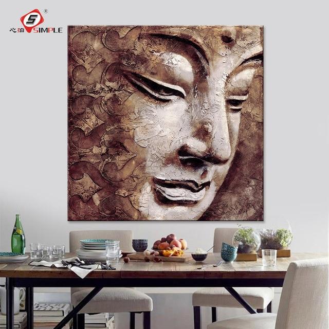 Buddha Beach Decor Contemporary: Canvas Prints Wall Art Buddha Oil Paintings Portrait