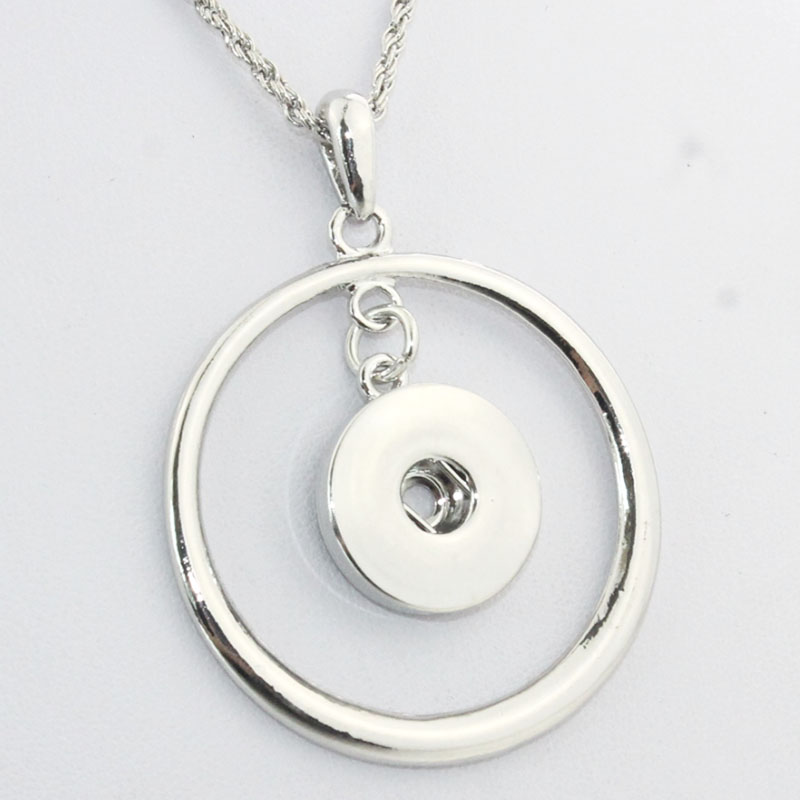 2019 New Snap Jewelry Flower Necklace Crystal Snap Button Necklace for Women Fit 18mm 20mm Snap Buttons Jewelry