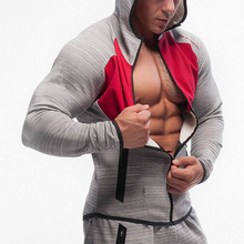 2017 Fitness Men Bodybuilding Hoodies Gyms Brand Clothing Men Hoody Zipper Casual Sweatshirt Men's Slim Fit Hooded Jackets(China)