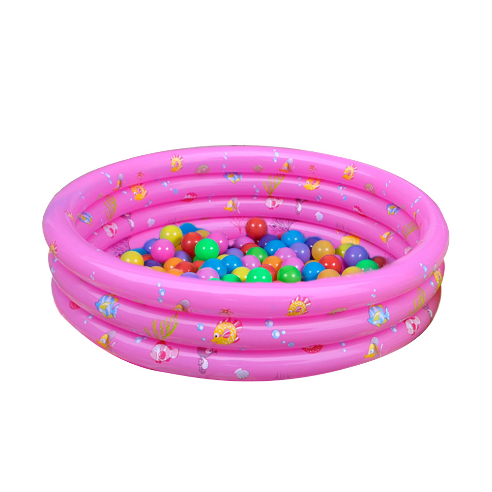 Portable Three Rings Trinuclear Baby Inflatable Pool Summer Swimming Paddling Pool Bath Tub with Pump Bathtub