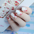 14 pcs/Folha Flores Prego Wraps Rose Red Nail Art Stickers Completa MDS1013 NASCIDO BONITA #23251