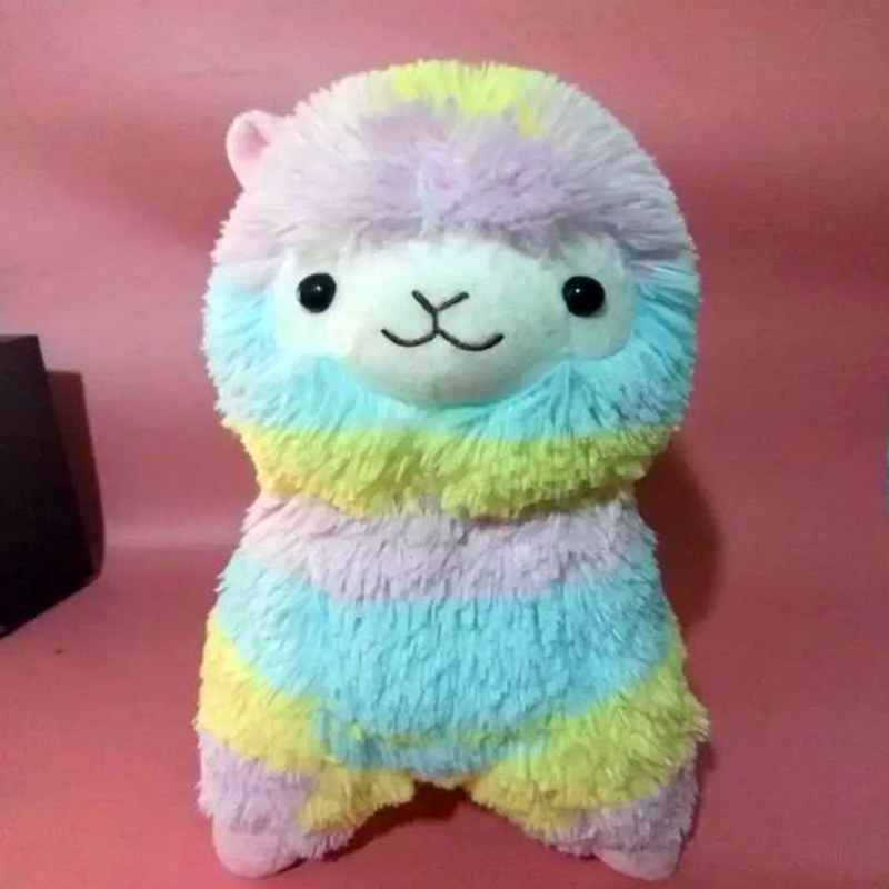 2016 Juguetes 35cm Kawaii Rainbow Alpaca Plush Toys Japan