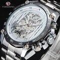 FORSINING Novo Número Esporte Design de Moldura Relógio Montre Homme Relógio Mecânico Mens Relógios Top de Luxo Homens Esqueleto Relógio Automático