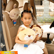 New style Car Headrest Neck Pillow Super Soft Cartoon Cute Head Rest Travel Support Auto Protection Pad Accessories