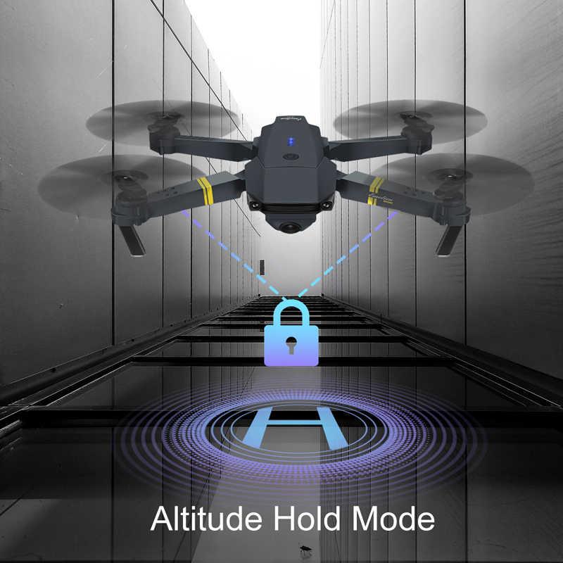 Eachine E58 WIFI FPV con gran angular cámara HD 1080P Modo de retención de altura brazo plegable RC Quadcopter Drone X dron Pro RTF para regalo