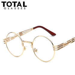 Gothic steampunk sunglasses men women metal wrapeyeglasses round shades brand designer sun glasses mirror high quality.jpg 250x250