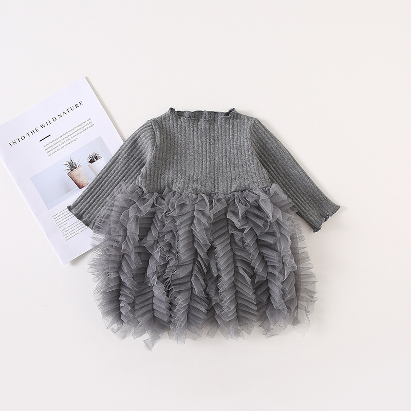 HTB1z5S9dPDpK1RjSZFrq6y78VXat Girls Knitted Dress 2019 autumn winter Clothes Lattice Kids Toddler baby dress for girl princess Cotton warm Christmas Dresses