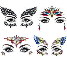 Adhesive Face Gems Rhinestone Temporary Tattoo Jewels Festival Party Body Glitter Flash Temporary Tattoos Stickers Makeup Set(China)