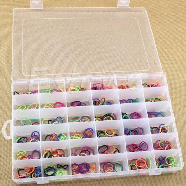 E74 36 Grid / Slot Plastic Jewelry Adjustable Box Case Organizer Craft  Storage Beads