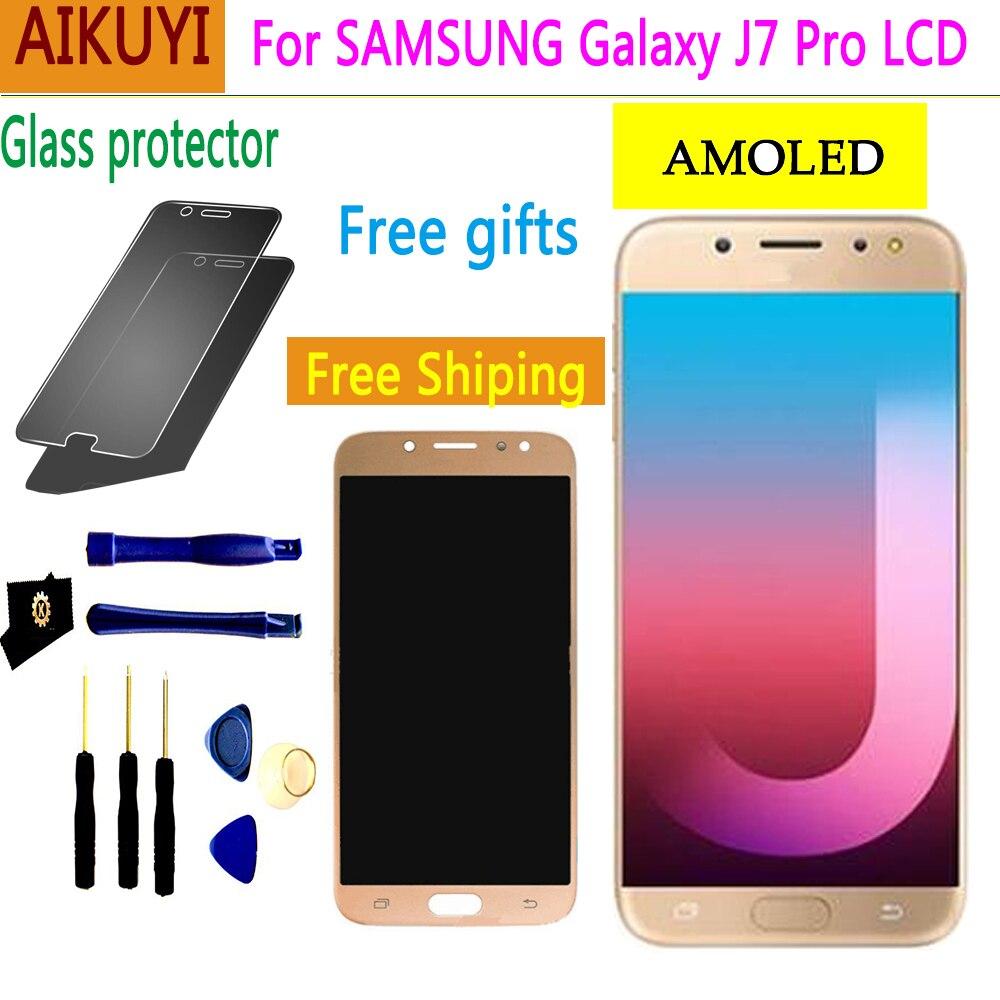 AMOLED Pour Samsung Galaxy J7 Pro 2017 J730 SM-J730F J730FM/DS J730GM/DS Écran LCD + Écran Tactile digitizer Pièces De Rechange