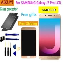AMOLED original For Samsung Galaxy J7 Pro 2017 J730 LCD Display Touch Screen Digitizer Replacement Parts J730F J730FM J730GM/DS samsung original replacement battery eb bj730abe for samsung galaxy j7 pro j730f j730g j730ds j730fm j730gm j730k 3600mah