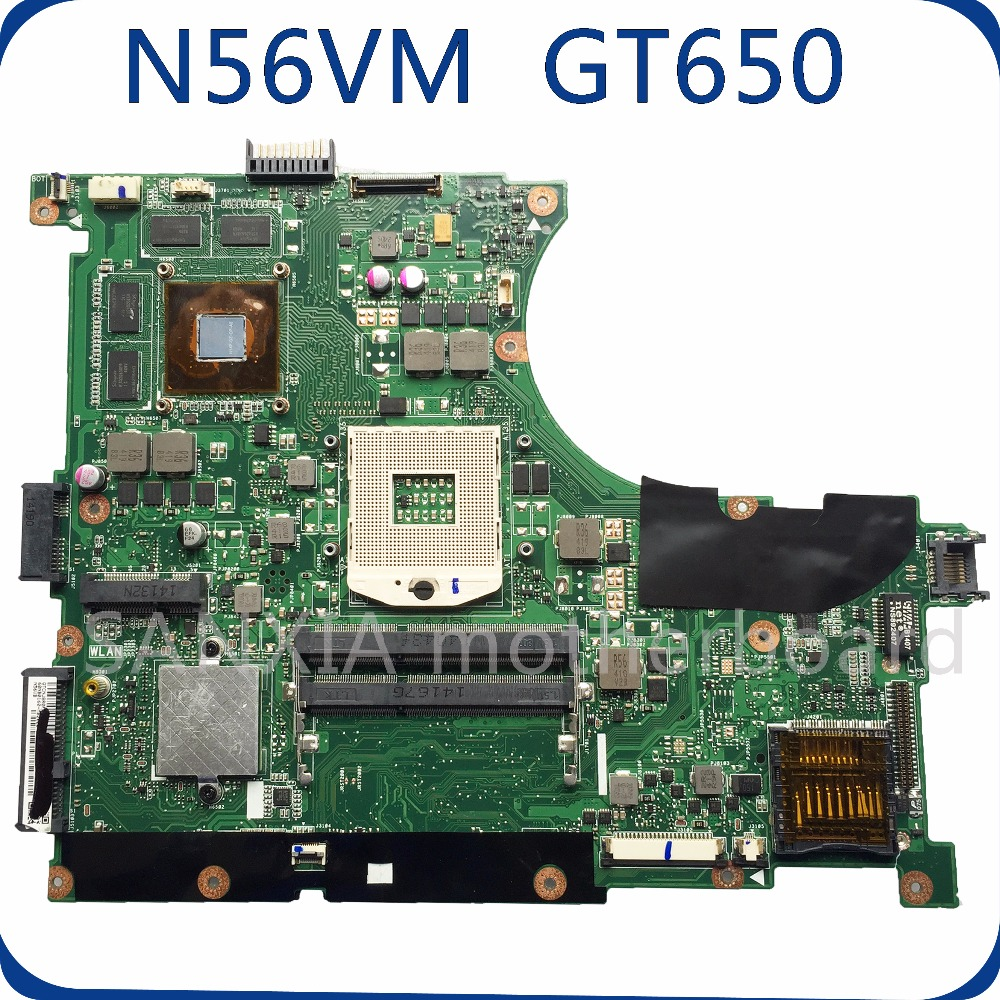SHELI N56VM motherboard for ASUS N56V N56VM N56VZ N56VJ laptop motherboard GT650M original tested mainboard N56VZ hot for asus x551ca laptop motherboard x551ca mainboard rev2 2 1007u 100% tested new motherboard