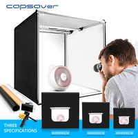 Capsaver Leuchtkasten Folding Foto Studio Fotografie Box Tragbare Foto Zelt 40cm 60cm 80cm Licht Box für Schmuck kleidung Schießen