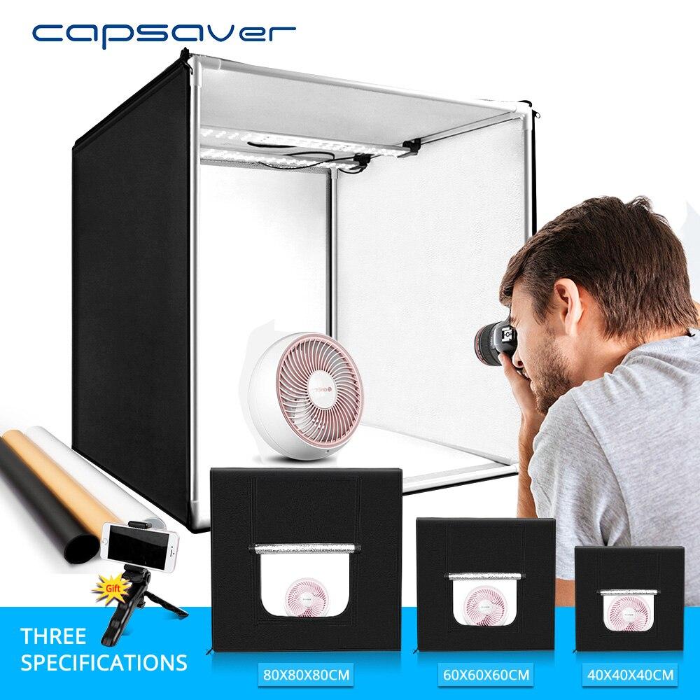 Capsaver Lightbox pliant Photo Studio photographie boîte Portable Photo tente 40cm 60cm 80cm boîte lumineuse pour bijoux vêtements tir
