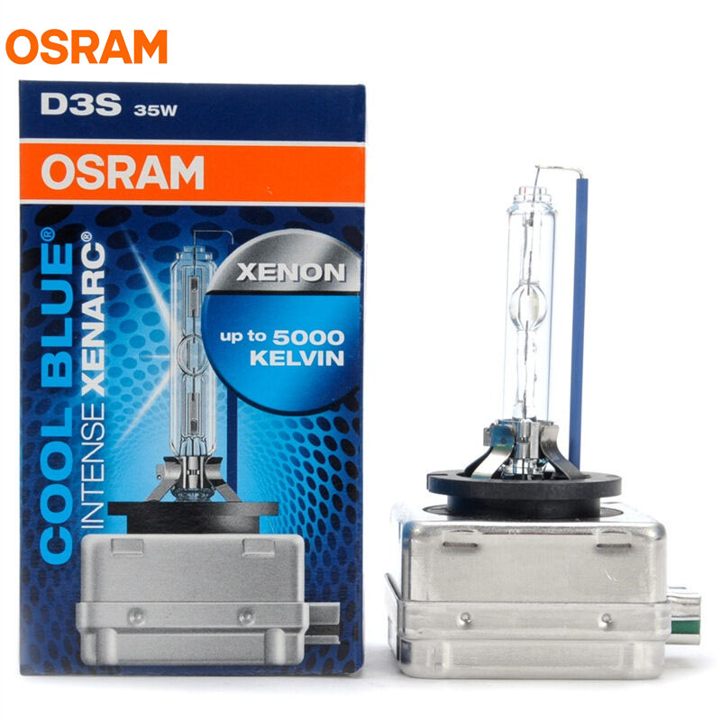 1X New OSRAM D3S 35W 66340CBI 5000K XENARC COOL BLUE INTENSE HID OEM Bulb 20% More Light Xenon White Lamp Car Light Headlight osram d3s 35w 66340 66340hbi 4200k xenarc original spare part hid oem bulb germany oem xenon white car headlight for audi ford