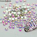 Super Glitter Crystal AB Rhinestones Flat Back Glass Chameleon Nail Rhinestones For Charms 3D Nails Art Decorations Strass