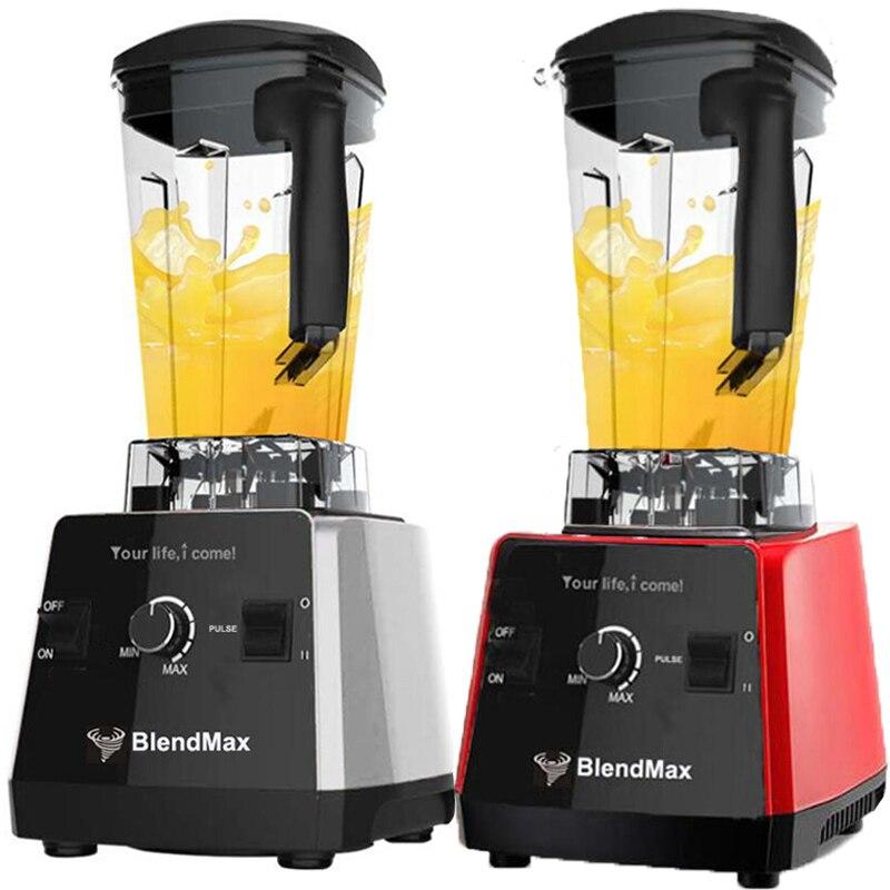 Allemagne technologie SANS BPA 3HP 2200 w Commerciale Mélangeur hachoir à Viande Mélangeur Puissant Alimentaire Smoothie Fruits Mélangeur presse-agrumes