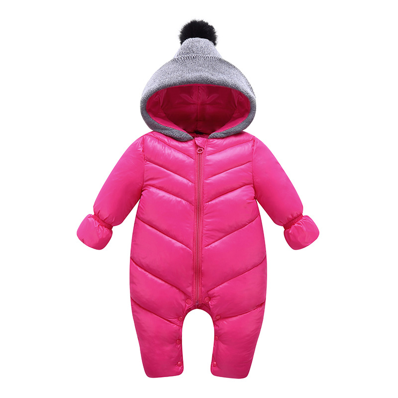 MAGGIE'S WALKER Baby Rompers Outfits Boys Girls Winter Cotton Warm Hooded Zipper Jumpsuits Kids Windproof Roupa De Bebes maggie s walker baby rompers outfits boys long sleeve banana luxury organic cotton climb clothes toddler girls roupa infantil