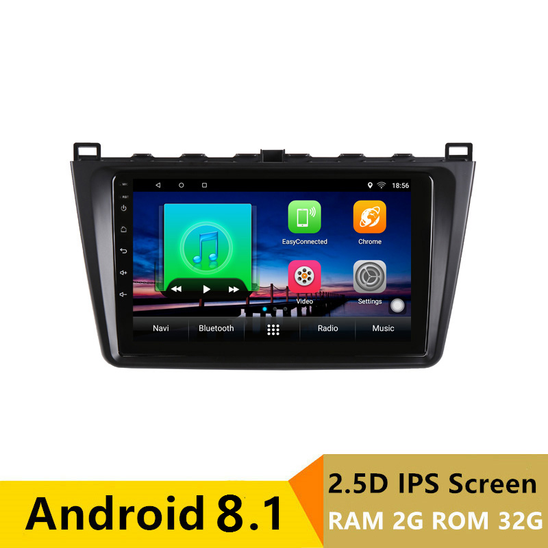 "9"" 2G RAM 32G ROM Android Car DVD Player GPS for Mazda 6 Ruiyi Ultra 2009 2010 2011 2012-2015 audio car radio stereo navigation"