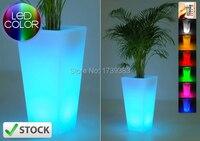 Free schiff wasserdichte outdoor h78cm 16 farben rumba square leuchten led eiskübel drahtlose, blumentopf licht möbel led anlage vase