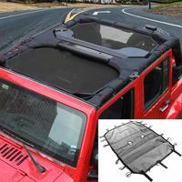 Durable Sunshade UV Protection Mesh Sun Shade Top Cover for 4 doors Jeep Wrangler JK & Unlimited 2007 2017