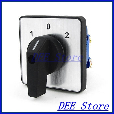 Ui500V Ith16A ON/OFF/ON 3 Position Rotary Cam Changeover Switch lw8 10 2 rotary handle universal cam changeover switch ui 660v ith 20a