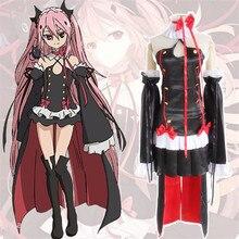 Anime japonés Serafín De Finales Krul Tepes Vampiro Disfraces Cosplay Uniforme Vestido + Headwear Tamaño S-XL