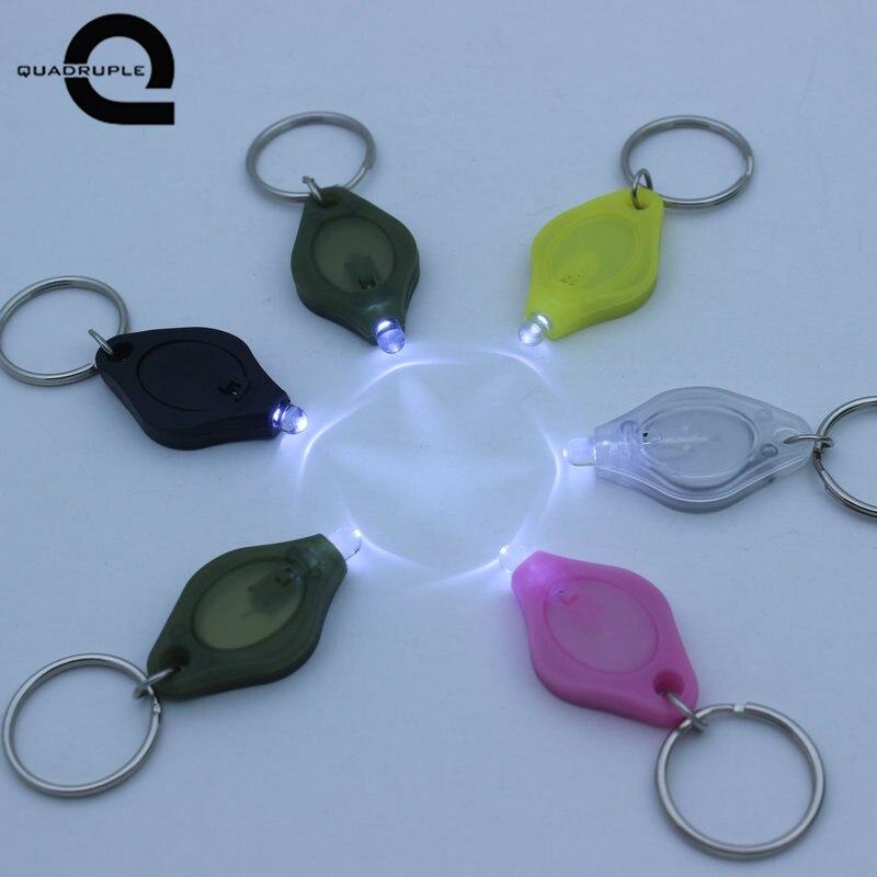 Quadruple Emergency mini flashlight LED key chain light disposable small flashlight portable white light