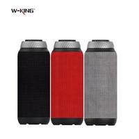 W-king Portable Bluetooth Speaker 20W Subwoofer Speaker mini Wireless Speaker for phones Support TF Card AUX Computer Speakers