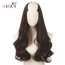 Sarla 200 pçs/lote extensão do cabelo longo sintético encaracolado clipe em extensões de cabelo u parte natural hairpieces uh17