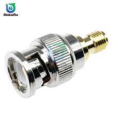 BNC Male Connector to SMA Female Connector SMA Male Plug to BNC Female Converter For RF Radio Antenna Adapter 5 8g sma female male antenna connector for rc aircraft fpv golden 4 pcs