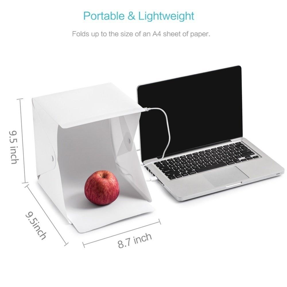 Button Mini Qatlanan Lightbox Fotoqrafiya Studiyası Softbox LED - Kamera və foto - Fotoqrafiya 3
