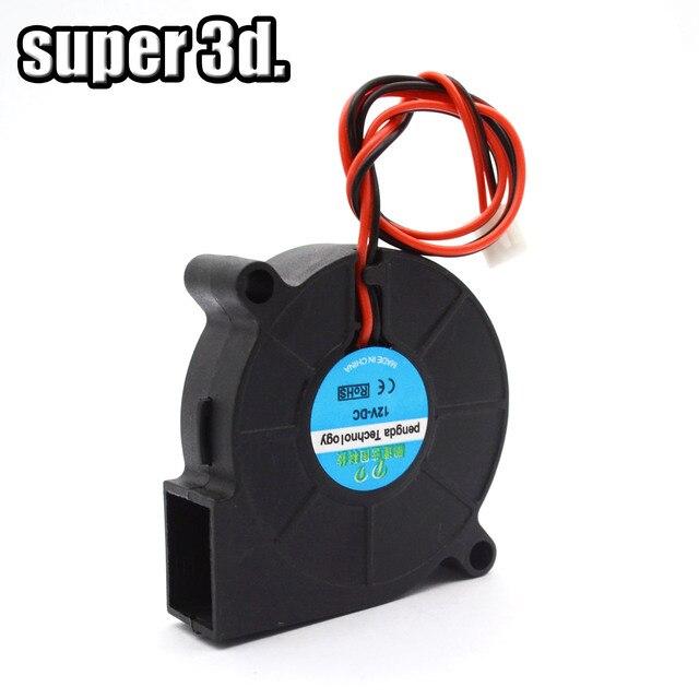 В 5015 12 v в и 24 v охлаждения Turbo fan бесщеточный 3d принтеры запчасти 2Pin для экструдера DC охладитель воздуходувы 50x50 x мм 15 мм часть черный пластик вентиляторы