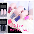 MATTE Already 3 in 1 one step Nail Gel  2017 Latest Nail Gel No Need Base Top CoaPolish Need UV LED Lamp Gel Lacquer Gel Polish