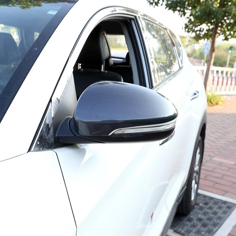 Conduite à gauche pour Hyundai Tucson 2016 2017 2018 2019 ABS plastique voiture rétroviseurs décoration couverture garniture 2 pièces voiture style