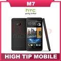 Smartphone HTC, desbloqueado one M7 Android 32 GB ROM 4.7 pulgadas GPS 3 G de doble cámara de 8MP WIFI reformado