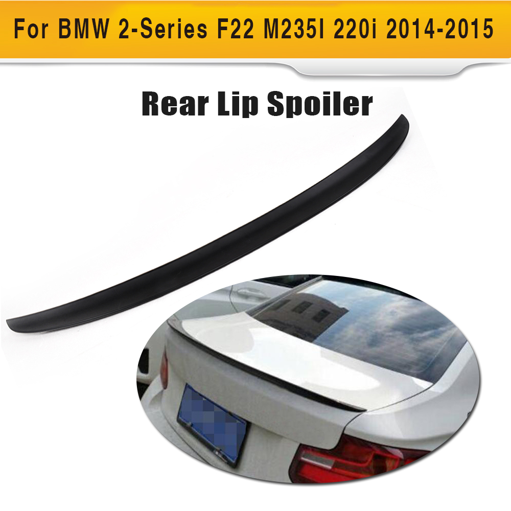 Black ABS Auto Rear Trunk Lip Wing Spoiler for BMW F22 F87 M2 Coupe M Sport 220i M235i M240i 14-17 P style