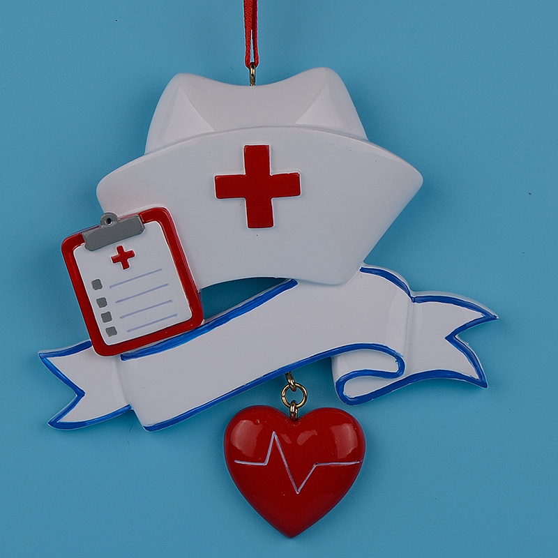 Wholesale Nurse Personalized Polyresin Christmas Ornament