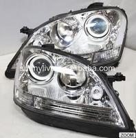 Для Mercedes Benz W164 ML280 ML320 ML350 светодио дный головного света 2005 2008 год серебро