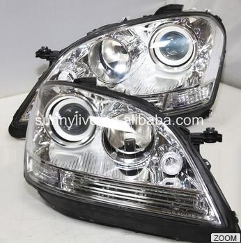 For Mercedes-Benz W164 ML280 ML320 ML350 LED Head Light 2005-2008 Year Silver
