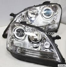 Для Mercedes-Benz ML320 ML350 W164 ML280 СВЕТОДИОДНОЙ Головного Света 2005-2008 Год Серебро