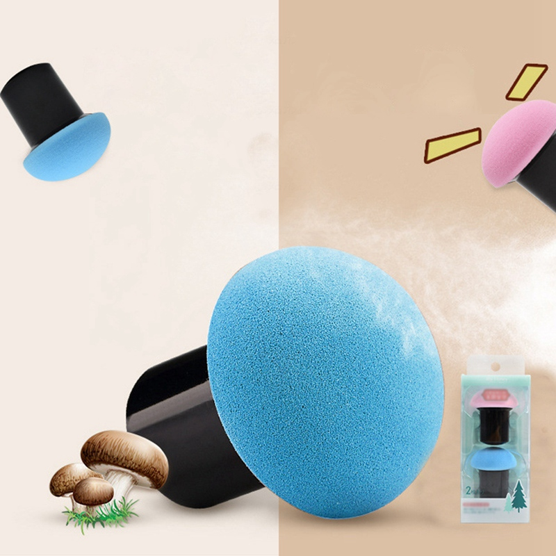 1pcs Sponge Cute Mushroom Head Cosmetics Wet And Dry Puff Size Large With Tamping Box Packaging Makeup Tool