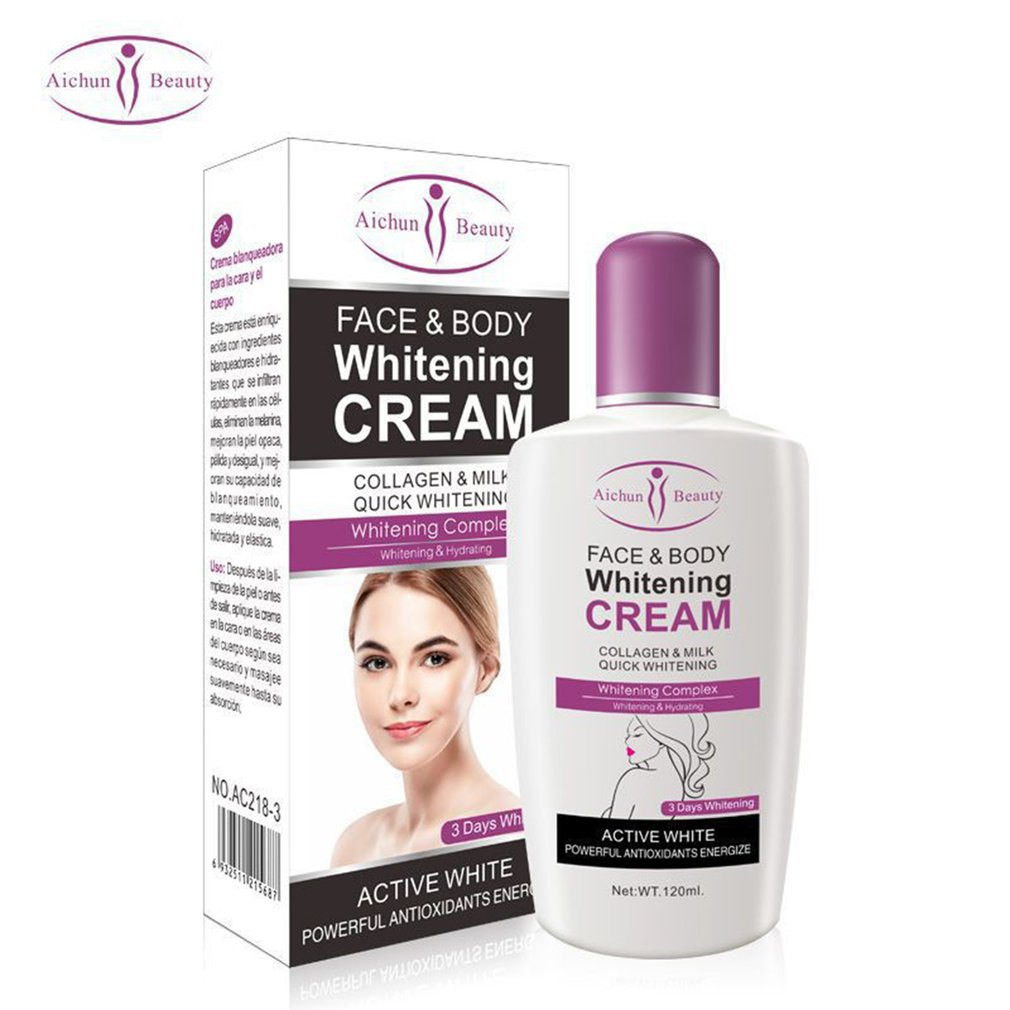 Facial Care Body Cream  Dark Skin Bleaching Brightening Body Lotion Whitening Cream 120ml Private Parts Formula Armpit Whitener