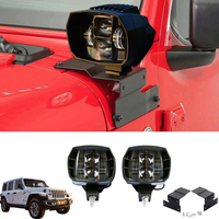 60W Car Headlight Auto Driving Fog Light Car Led Working Light Spotlight Front Bar Lamp For Jeep Wrangler JL 2018 2019