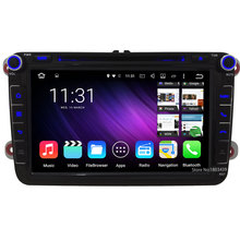 Quad Core 8″ 1024*600 Android 5.1.1 RDS Car DVD Player Radio For Skoda Roomster Seat Leon VW Tiguan Touran Jetta Sharan Multivan