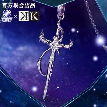 K Project Anime Necklace Pendant Silver 925 Sterling Manga Role Isana Yashiro Model Figure Fashion Jewelry