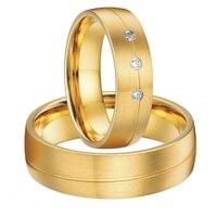 Пользовательские Свадебная пара новинка 2015 цвет золотистый альянсов Анель titanium стали пары колец обручальное наборы для обувь для мужчин и