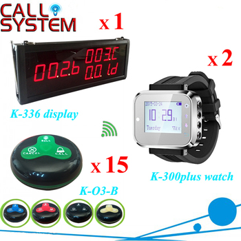 Table paging call system 1 display monitor 2 watch receiver 15 guest buzzer for service with CE Passed